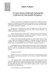 2ª Carta Aberta à Federação Nacional das Confrarias da ...