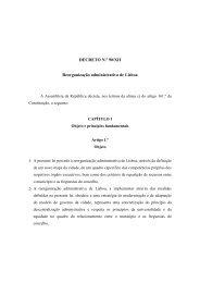 DECRETO N.º 90/XII Reorganização administrativa de Lisboa