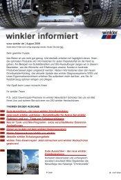 www.winkler.de | August 2009 Sehr geehrter Kunde, das Beste ist ...