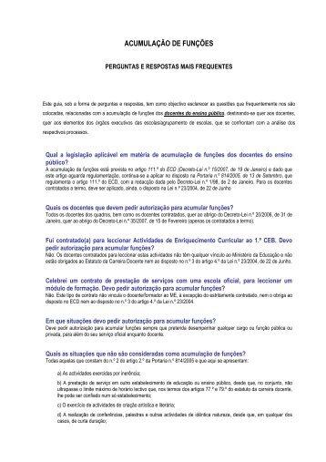 Perguntas & Respostas mais frequentes 27-10-2008 - (PDF - 100KB)