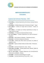 MAPA DE EVENTOS 2013 01-02-2013 - Confraria da Lampreia