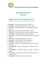 Mapa de Eventos - 25/12/2012 - Confraria Gastronómica do Velhote