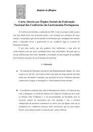 Carta Aberta aos Órgãos Sociais da Federação Nacional das ...