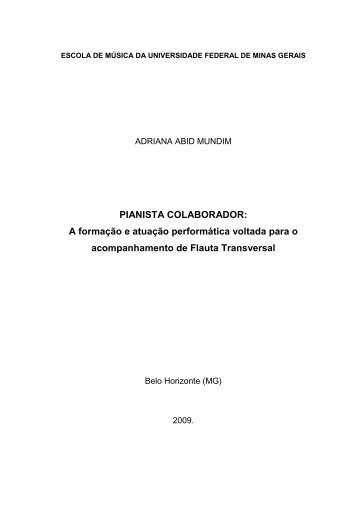 O PIANISTA COLABORADOR - Biblioteca Digital de Teses e ...