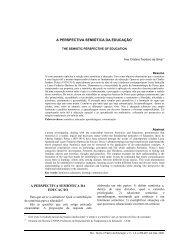 A PERSPECTIVA SEMIÓTICA DA EDUCAÇÃO* A ... - DTP - UEM