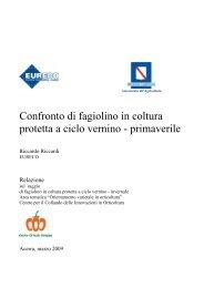 Confronto di fagiolino in coltura protetta a ciclo vernino - primaverile