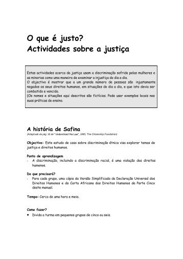 Texto do Manual Siniko - Historia de Safina