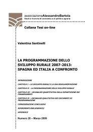 la programmazione dello sviluppo rurale 2007-2013 - associazione ...