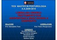 lombalgia cronica - Associazione Back School