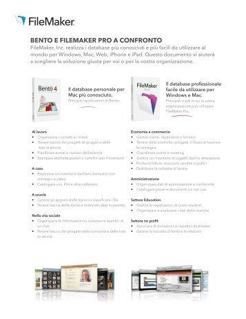 BENTO E FILEMAKER PRO A CONFRONTO