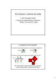 Test d'ipotesi: confronto fra medie - Sezione di Epidemiologia ...