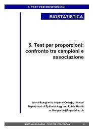 5. Test per proporzioni: confronto tra campioni e ... - statistica.it