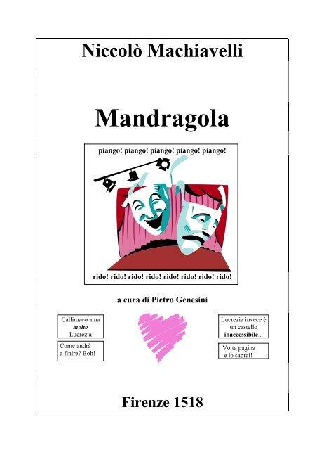 Machiavelli pdf mandragola