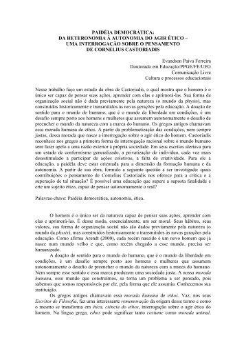 paidéia democrática - Anais do Simpósio de Estudos e Pesquisa ...