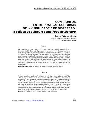 CONFRONTOS ENTRE PRTICAS CULTURAIS DE INVISIBILIDADE ...