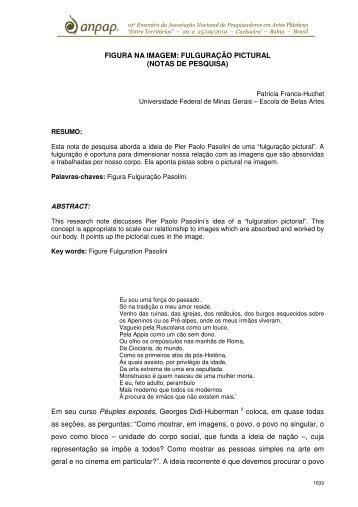 FIGURA NA IMAGEM: FULGURAÇÃO PICTURAL (NOTAS ... - anpap