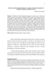 DENUNCIAÇÕES INQUISITORIAIS NA ÁFRICA: RITUAIS ... - UFRB