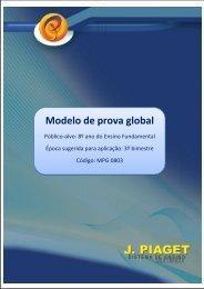 Modelo de prova global - J. Piaget