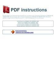 Istruzioni per l'uso TERRAILLON THERMO CHEF - ISTRUZIONI PDF