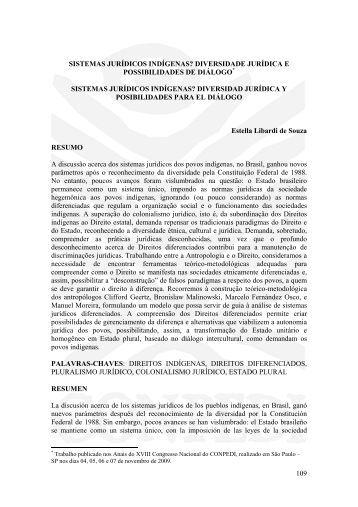 109 SISTEMAS JURÍDICOS INDÍGENAS ... - publicaDireito