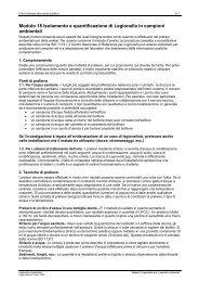 Modulo 18 Isolamento e quantificazione di Legionella in