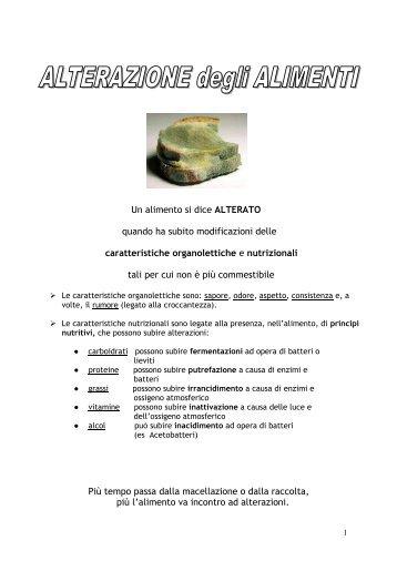Alterazione degli alimenti - G. Giolitti