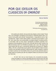 (des)ler os clássicos em Omeros - Légua & meia - Universidade ...