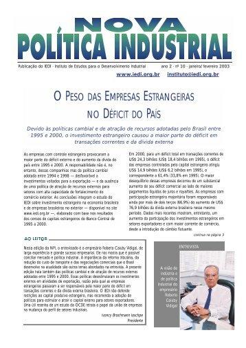 Nova Política Industrial - nº 10 - Retaguarda IEDI