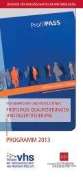 Programm 2013.pdf - Zentrum für wissenschaftliche Weiterbildung ...