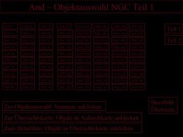 And – Objektauswahl NGC Teil 1 - Astronomische  Vereinigung ...