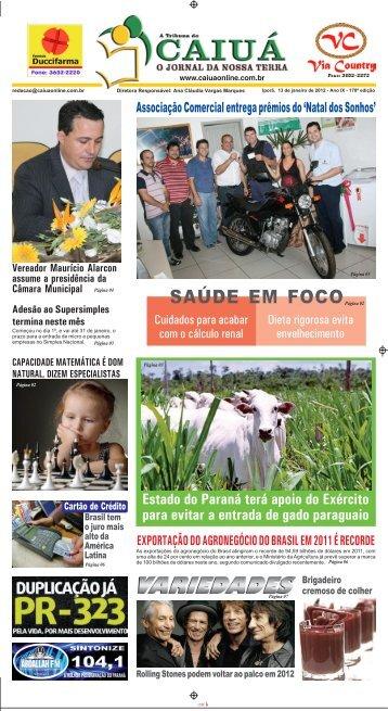 SAÚDE EM FOCO - Jornal Caiuá Online