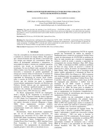 Modelagem de equipamentos Facts de segunda ... - LabPlan - UFSC