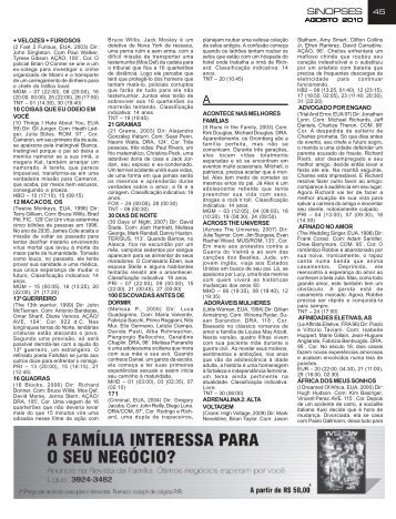 Pag 45 a 76 Ago10 - Sinopses - TV Show Brasil