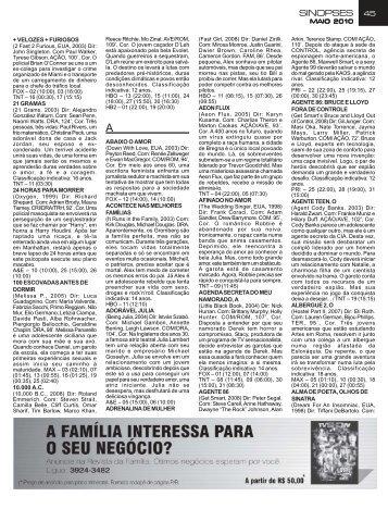 Pag 45 a 76 Mai10 - Sinopses - TV Show Brasil