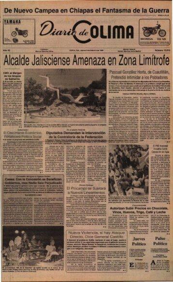 Alcalde Jalisciense Amenaza en Zona Limítrofe - Universidad de ...