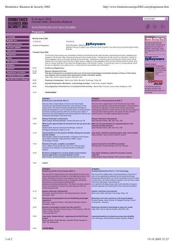 Biometrics - bc - Arendt Business Consulting