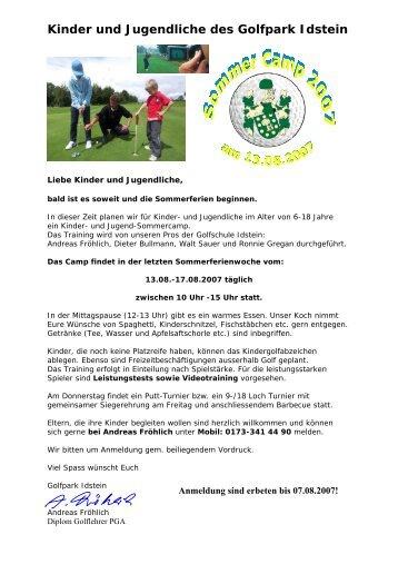 Kinder und Jugendliche des Golfpark  Idstein