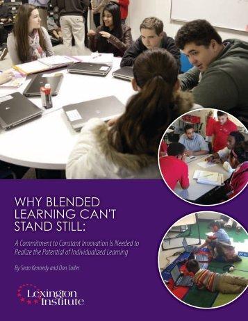 WhyBlendedLearningCantStandStill