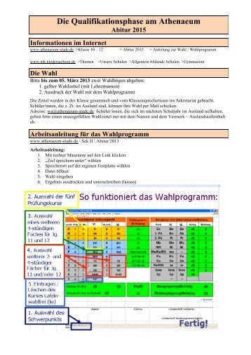 Anleitung zu den Wahlen - Athenaeum Stade