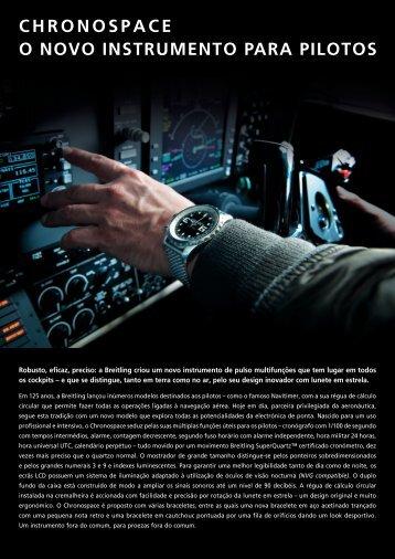 o novo instrumento para pilotos chronospace - My WatchSite