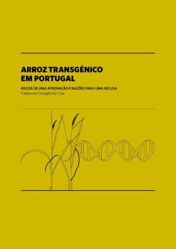 Arroz Transgénico em Portugal - Plataforma Transgénicos Fora