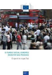 O FUNDO SOCIAL EUROPEU INVESTIR NAS PESSOAS - Europa