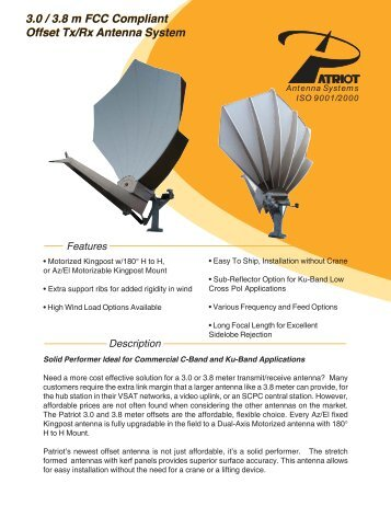 3.0 / 3.8 m FCC Compliant Offset Tx/Rx Antenna System 3.0 ... - atrexx