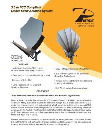 3.0 m FCC Compliant Offset Tx/Rx Antenna System 3.0 m ... - atrexx