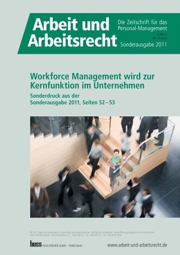 Workforce Management wird zur Kernfunktion im ... - Atoss AG
