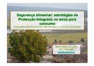 Segurança alimentar: estratégias de Protecção Integrada no ... - IICT