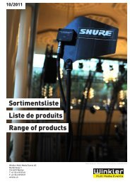Liste de produits Range of products Sortimentsliste