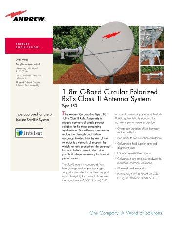 1.8 m C-Band Circular Polarized RxTx Class - atrexx