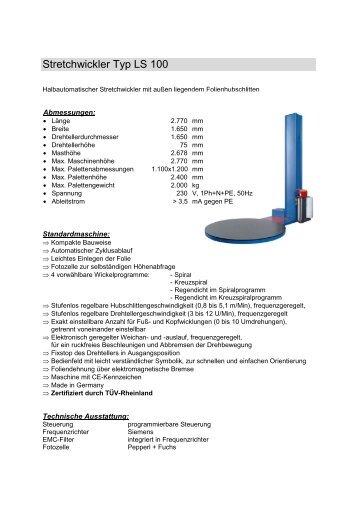 Stretchwickler Typ PSE 400 N - Atzinger Verpackung GmbH