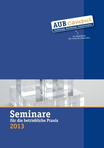 Seminarprogramm 2013 - AUB eV